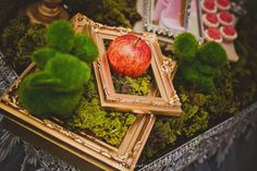 Elegant Princess Birthday Party via Kara's Party Ideas | Red Apple Accent with Frames