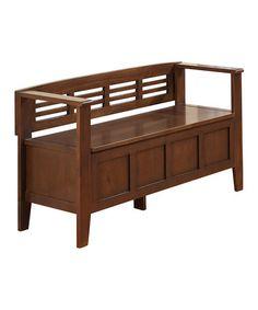 Look at this #zulilyfind! Rustic Medium Brown Adams Storage Bench #zulilyfinds