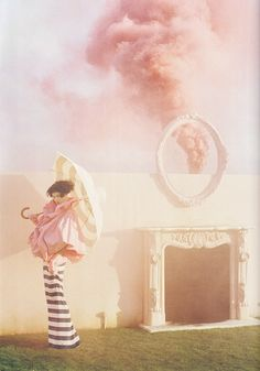 """Lindsey Wixson in British Vogue April 2011""""the right lines"""" by Tim walker."""