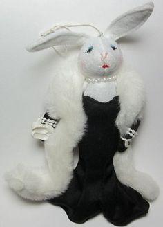 Glamorous Bunny Rabbit - Heartfelts Ornaments, Midwest of Cannon Falls