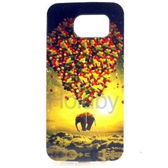 Fashion Slim TPU Soft Case for Samsung G9250 Galaxy S6 Edge(A Flaying Elephant with Coloful Air Balloon)
