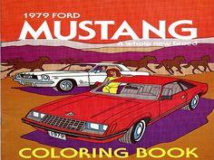 Vintage 1979 Mustang Coloring Book
