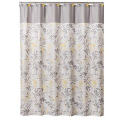Trellis 72 in. Floral Shower Curtain, Yellow