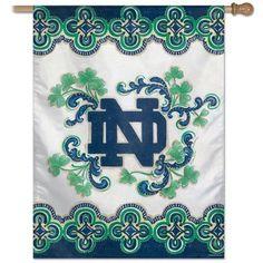 Notre Dame Fighting Irish - LOVE this unique house flag!