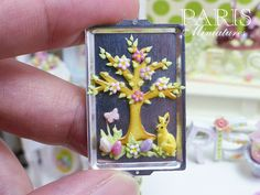 Easter Cookie Tree on Baking Sheet Miniature by ParisMiniatures