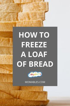 If you are prepping for an emergency or simply accidentally purchased too much bread, see how to freeze it by the slice or by the loaf. Easy Cloud Bread Recipe, How To Store Bread, How To Freeze Bread, Freezing Bread, Freezer Meals, Easy Meals, Freeze Muffins, Parchment Paper Baking, Dinner On A Budget