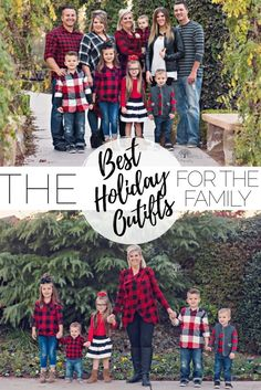 Holiday Outfits For The Family + Blogmas Day 4 + buffalo plaid & stripes