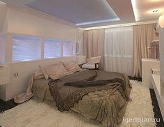 Спальня в нейтральных тонах. Дизайн дома в современном стиле от дизайнера: Люсьены Фирсовой. Больше фото на сайте. Сделать заказ. #дизайнинтерьера #igenplan #дизайндома #интерьердома