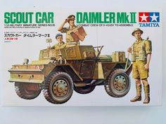 Tamiya Scout Car Daimler MK II 35018 for sale online Tamiya Model Kits, Tamiya Models, Plastic Model Kits, Plastic Models, Ww1 Tanks, Military Drawings, Ww2 Pictures, Military Armor, Model Hobbies