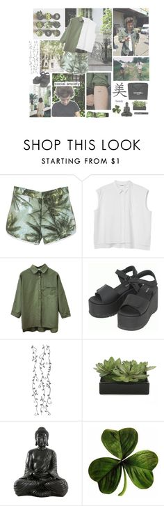 """""""Where the wild things are"""" by ceeetaaa ❤ liked on Polyvore featuring Børn, Spy Optic, Monki, Dr. Martens, Chanel and Lux-Art Silks"""
