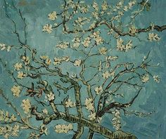 VINCENT VAN GOGH - Branches of an Almond Tree in Blossom - oil - Painting,  24x20 in ©0000 by Vincent Van Gogh -  Painting, Oil