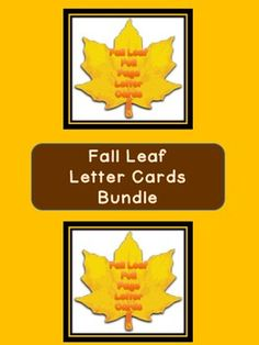 Here is the Fall Leaf Letter Cards in a bundle which includes the Fall Leaf Full Page Alphabet Letter Cards Uppercase and Lowercase and the Fall Leaf Alphabet Letter Cards Uppercase and Lowercase
