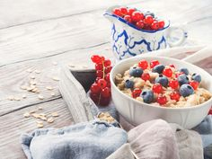 Healthy porridge in summer by Life Morning Photography on @creativemarket