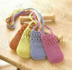 cellular phone crocheted pouch! With diagrams! This is really easy and so cute and useful!