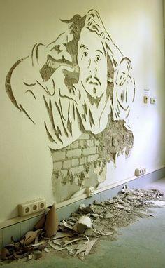 Rene Scheer: Mein Wandbild in der Kunstklinik im Mai 2014  www.renescheer.de #hamburg #Altona #Kunst #art #artwork #germany #action #Hammer #stencil #stencilart #renescheer #shop #shopping #klinik #kunstklinik #wandbild #eppendorf #eimsbüttel #poppenbüttel #courbet #Pochoir #gustavecourbet #Schablonenkunst