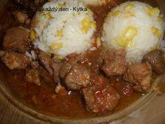 Stew, Mashed Potatoes, Pork, Meat, Ethnic Recipes, Whipped Potatoes, Kale Stir Fry, Smash Potatoes, Pork Chops