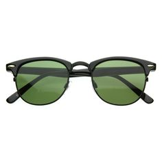 Vintage Half Frame Clubmaster Shades Style Classic Optical RX Sunglasses 2947