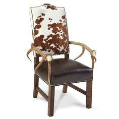 The classic form and rustic style of the King Ranch Elk Horn Arm Chair will lend a charming accent to your living space. The authentic elk horn arms add just the right measure of ranch life to your home. | King Ranch Saddle Shop