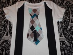 Iron One Tie and Suspenders Set DIY First/1st  Birthday
