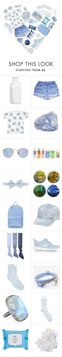 """""""MILKY-2"""" by kuroi-sinju ❤ liked on Polyvore featuring Crate and Barrel, Ray-Ban, Lanvin, Herschel Supply Co., RVCA, Splendid, NIKE, Lucky Brand, ADORNIA and Slater Zorn"""