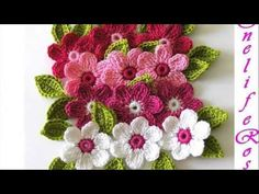 ▶ crochet flowers - YouTube