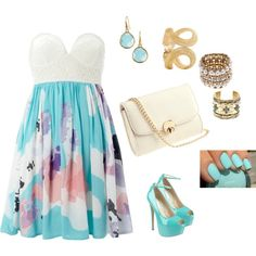 I like the accessories n nails but not really the dress, lol.