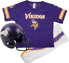 Minnesota Vikings Kids/Youth Football Helmet Uniform Set #vikings #nfl #minnesota