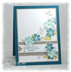 www.bloomin marvelous stamp set by stampin up, card by Sandi MacIver @www.stampingwithsandi.com