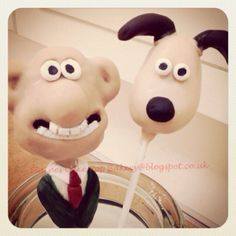 Wallace and Gromit cake pops