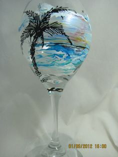 love this idea for a painted wine glass