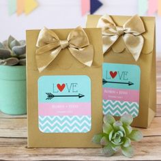 Personalized Wedding Candy Bags by Beau-coup