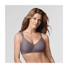 Playtex Secrets Perfectly Smooth Wirefree Bra 4707 - Grey 40D