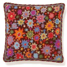 Starburst Print: A fun and lively starburst print in needlepoint