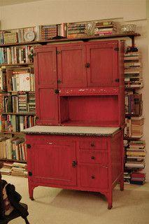 Assembled Hoosier Cabinet   by Marisa   Food in Jars