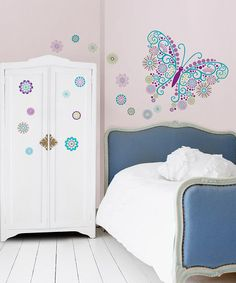 Take a look at this Social Butterfly Wall Decal Set by WallPops! on #zulily today!