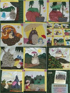 Totoro Quilt--- OMG my sister would LOVE this