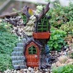 Fairy Homes and Gardens - Fiddlehead Fairy Tree Stump Cottage, $30.99 (http://www.fairyhomesandgardens.com/fiddlehead-fairy-tree-stump-cottage/)