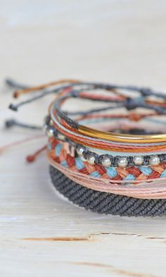 Spring Accessories - Grey, Coral, and Gold Style Packs from Pura Vida Bracelets//