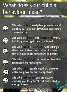 What does your child's behavior mean?