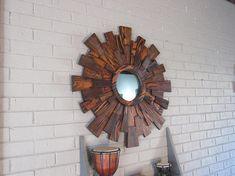 Wood wall art sunburst wall art reclaimed wood wall