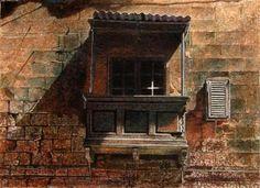 Angus McEwan, Divine sign, watercolour
