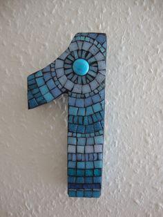 Mosaic door number from fatpoppycat