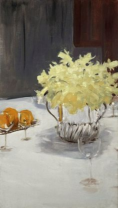 John Singer Sargent (American expatriate artist, 1856-1925) Still Life with Daffodils 1885