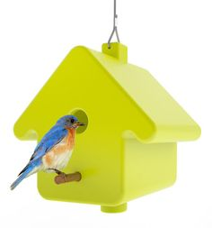With its simple house-shaped lines, the PICTO birdhouse references a pictogram of a three-dimensional home, which makes it the perfect shelter for small birds. Designed by birds for design for the French company Qui est Paul?, it comes in a hanging version or on a pole to plant in the yard.