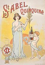 TRAVAIL VERS 1900   Saint Abel Quinquina.   Affiche lithographique.