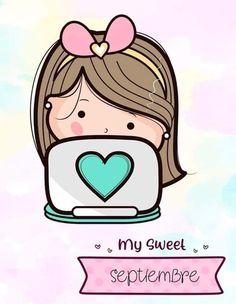 Cute Notebooks, Cute Little Girls, Cute Cartoon, Clip Art, Kawaii, Classroom, Teacher, Stamp, Wallpaper