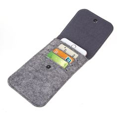 Bear Motion Felt Sleeve Case for iPhone 7 inch, iPhone inch, iPhone 6 inch, HTC One HTC One (Might Not fit if You Have Other case on The Phone) Felt Phone Cases, Felt Case, Leather Wallet Pattern, Felt Necklace, Diy Wallet, Small Sewing Projects, Craft Bags, Felt Fabric, Handmade Felt