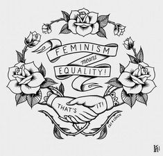 Feminism Means Equality Man Hater Girl Power Women Future Right Cool Sticker Feminist Tattoo, Feminist Af, Feminist Symbols, Equality Tattoos, Lotusblume Tattoo, Riot Grrrl, Power Girl, Girl Power Tattoo, Woman Power