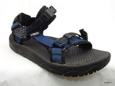 TEVA APPROACH SPIDER RUBBER SOLE RIVER HIKING SANDALS US 10 MENS BLUE BLCK USED