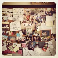 Our co-founder, Jason's, inspiration board.